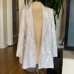 🔥 ASOS white sequin blazer BNWT